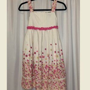 GEORGE Girl's Sz12 White Dress with Pink Floral